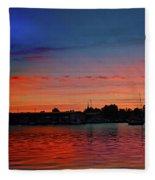 Red Morning Sun  Fleece Blanket
