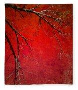 Red Morning Fleece Blanket