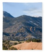 Red Mountain And Pikes Peak Fleece Blanket