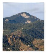 Red Mountain In The Foothills Of Pikes Peak Colorado Fleece Blanket