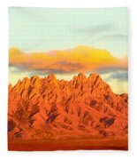 Red Mountain Sunset Organs Fleece Blanket