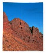 Red Mountains Fleece Blanket