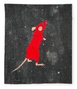 Red Mouse Fleece Blanket