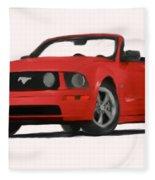 Red Mustang Fleece Blanket
