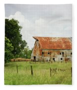 Red Oak Barn Fleece Blanket