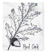Red Oak Leaf And Acorn Fleece Blanket