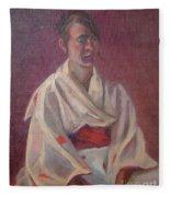 Red Obi Fleece Blanket