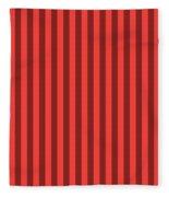 Red Orange Striped Pattern Design Fleece Blanket