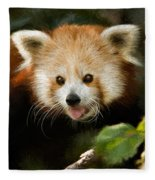 Red Panda Fleece Blanket