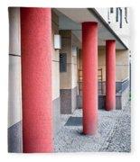 Red Pillars Fleece Blanket