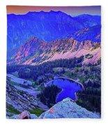 Red Pine Panorama Fleece Blanket
