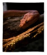 Red Poisonous Snake Fleece Blanket