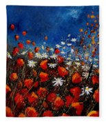 Red Poppies 451108 Fleece Blanket