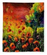 Red Poppies 451130 Fleece Blanket