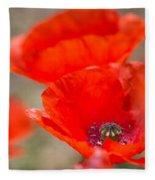 Red Poppy For Remembrance Fleece Blanket