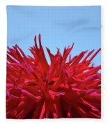Red Purple Dahlia Flower Art Print Giclee Baslee Troutman Fleece Blanket