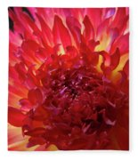 Red Purple Dahlia Flower Summer Dahlia Garden Baslee Troutman Fleece Blanket