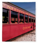 Red Rail Cars Fleece Blanket