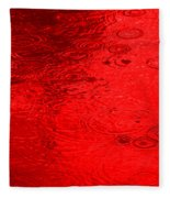 Red Rain Droplets Fleece Blanket