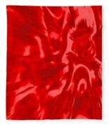 Red, Red Lava Fleece Blanket