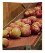 Red Ripe Macintosh Apples Fleece Blanket