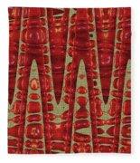 Red Ripe Pomagranite Abstract Fleece Blanket