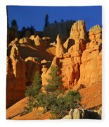 Red Rock Canoyon At Sunset Fleece Blanket