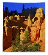 Red Rock Canoyon Moonrise Fleece Blanket