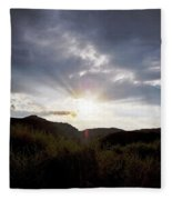 Red Rock Canyon Afternoon Sun Fleece Blanket