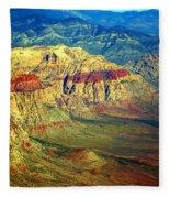 Red Rock Canyon Nevada Fleece Blanket
