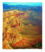 Red Rock Canyon Nevada Vertical Image Fleece Blanket