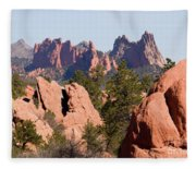 Red Rock Canyon Open Space Park And Garden Of The Gods Fleece Blanket