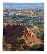 Red Rock Canyon Rock Quarry And Colorado Springs Fleece Blanket
