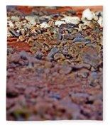 Red Rock Canyon Stones 1 Fleece Blanket