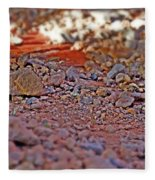 Red Rock Canyon Stones 2 Fleece Blanket