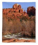 Red Rock Crossing Sedona Arizona Fleece Blanket