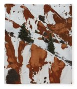 Red Rock Greenery Fleece Blanket