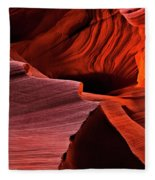 Red Rock Inferno Fleece Blanket