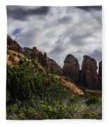 Red Rock Landscape From Sedona Arizona Fleece Blanket