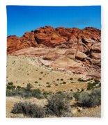 Red Rock Mountain Fleece Blanket