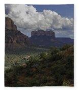Red Rock Of Sedona Arizona Fleece Blanket