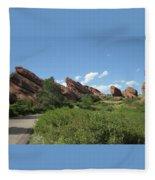 Red Rock Park Fleece Blanket