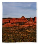 Red Rock Peaks 23 Fleece Blanket