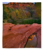 Red Rock Reflection Fleece Blanket