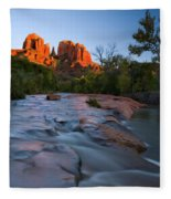 Red Rock Sunset Fleece Blanket