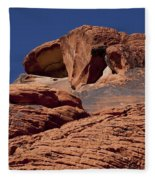 Red Rock Texture 2 Fleece Blanket