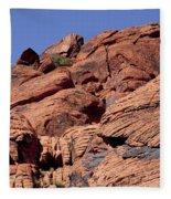 Red Rock Texture Fleece Blanket