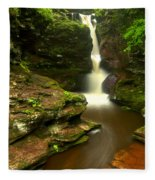Red Rocks And Lush Green Forest Fleece Blanket