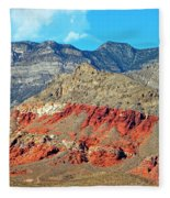 Red Rocks Nevada Fleece Blanket
