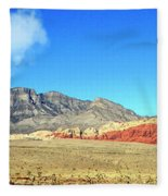Red Rocks Nevada Panorama Fleece Blanket